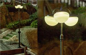 Hemispherical Solar Yard Light