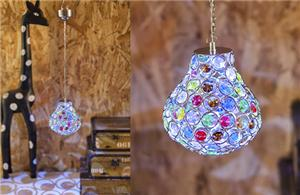 Bulb shaped color crystal chandelier
