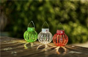 Pumpkin shaped decorative lights