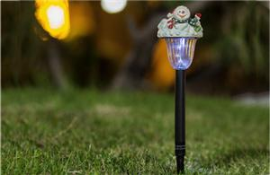 Snowman solar LED lights
