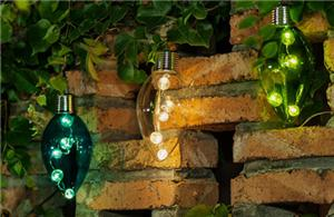 Solar glass light bulb
