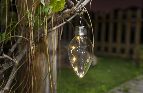 Solar panel light bulb