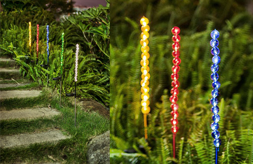 Beaded Solar Light Stake