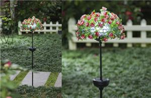 Pink rose solar lights