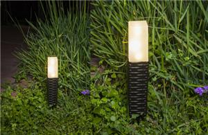 Solar fence wooden stake lights