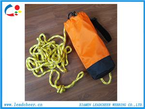 Hot sale high tenacity reflective rope with throw bag for survival
