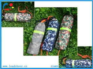 Military Pattern rescue bag with pp rope