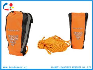 Polyester throw bag with reflective webbing