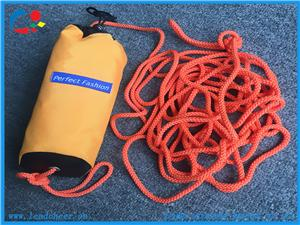 Large Waist High Visibility Yellow Rescue Bag Throw Rope