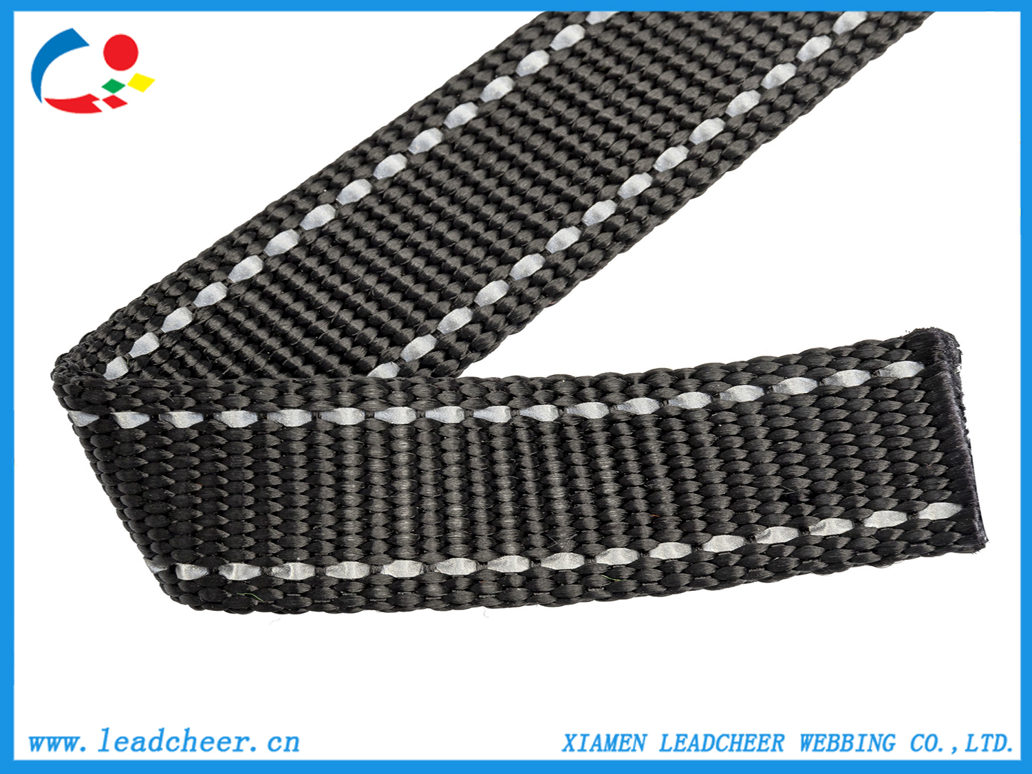 High quality Nylon Webbing with Two Reflective Strip for Pet Harness Quotes,China Nylon Webbing with Two Reflective Strip for Pet Harness Factory,Nylon Webbing with Two Reflective Strip for Pet Harness Purchasing