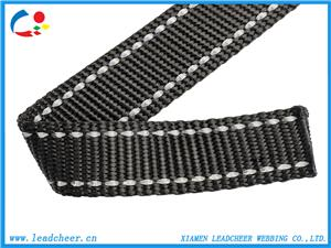 Nylon Webbing with Two Reflective Strip for Pet Harness
