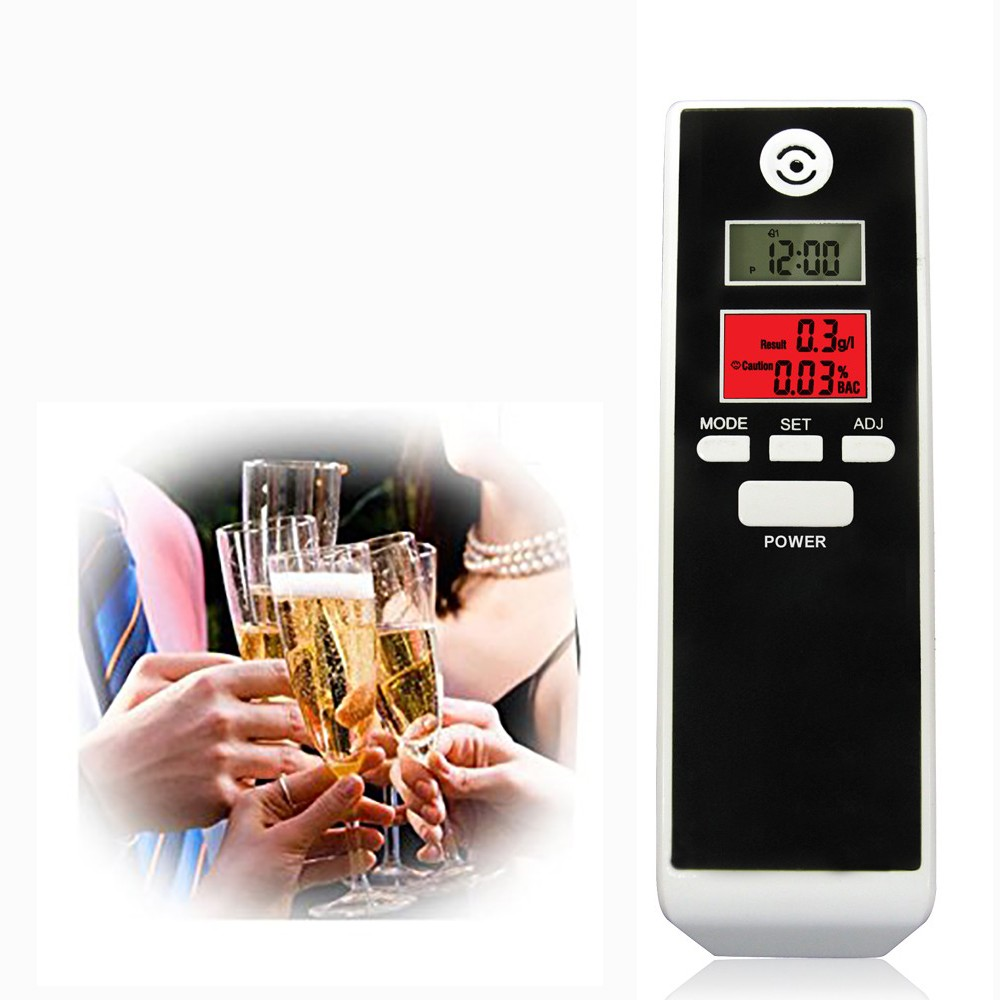 Dual LCD digital alcohol tester