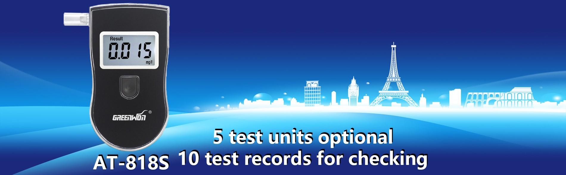 5 test units optional