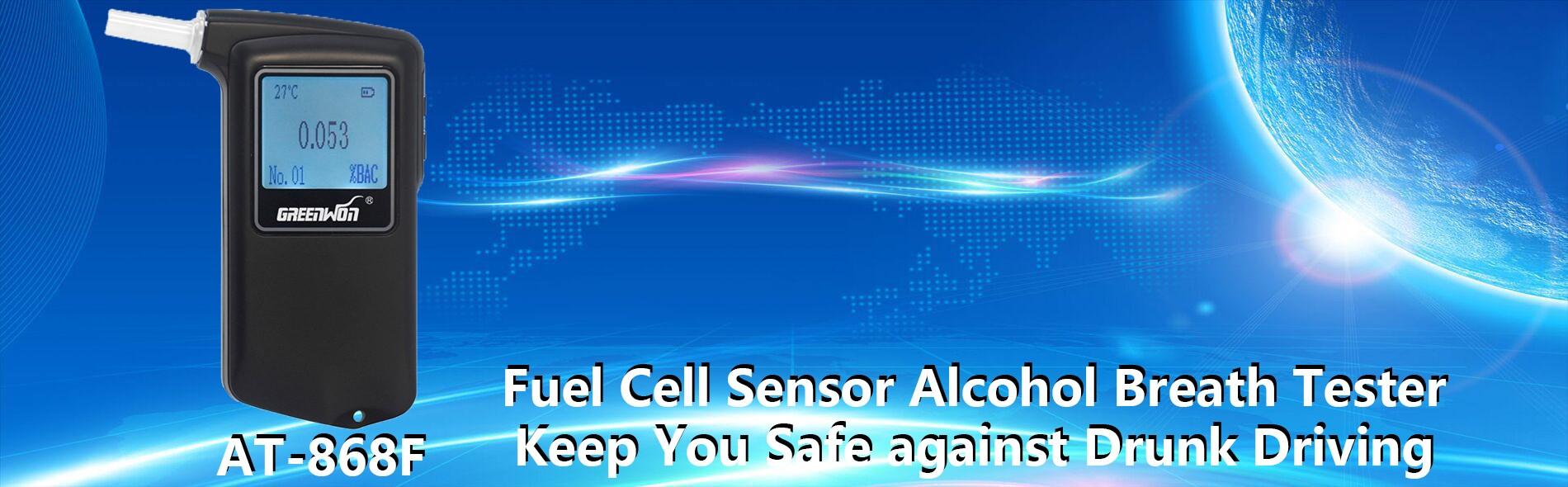 Fuel cell sensor alcohol breath tester