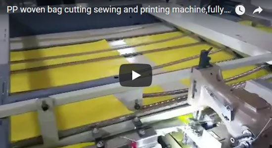 PP woven bag cutting sewing and printing machine,fully automatic