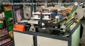 Rice Bag Hole Punching and Cutting and Stitching Machine