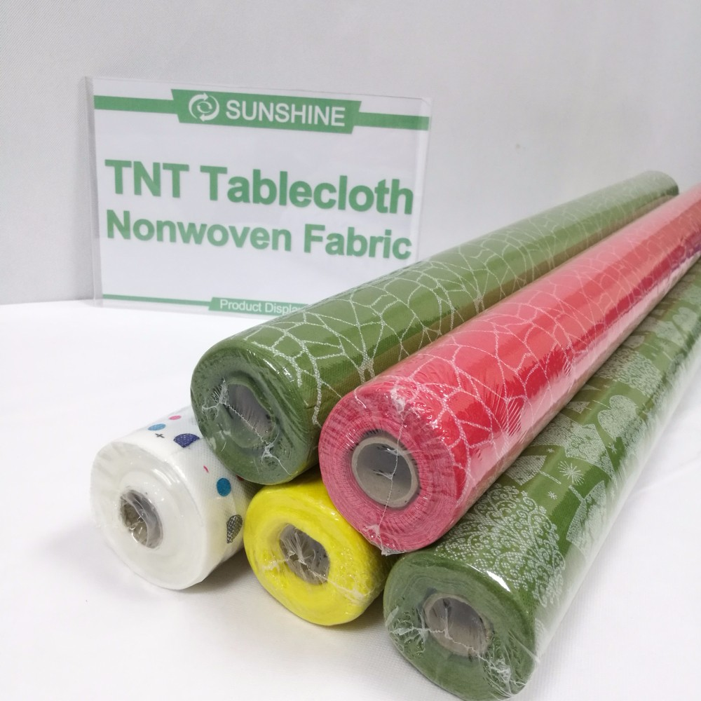 1.2m Width Colorful 50gsm Tnt Non Woven Table Cloth