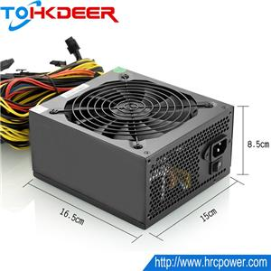 1600w ATX Power Supply 5v/12v Multiple Output For Bitcoin miner