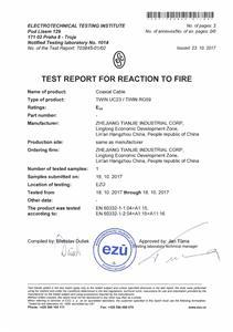 EN 50575 CPR RG59 Eca