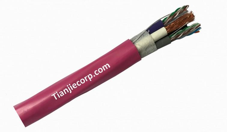 TIAN-JIE Composite Cable 2 CAT6 UTP + 2 CT100 PVC JACKET CPR Eca EN50575