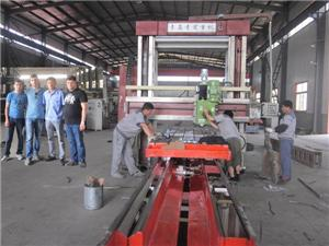 abroad client come facotry buy gantry milling machine