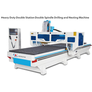 Double station double process cutting machine