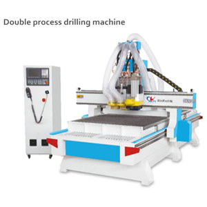 Two-step drilling and cutting machine
