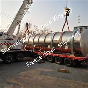 200 square meters lyophilized machine for processing tropical fruit was shipped to Taiwan