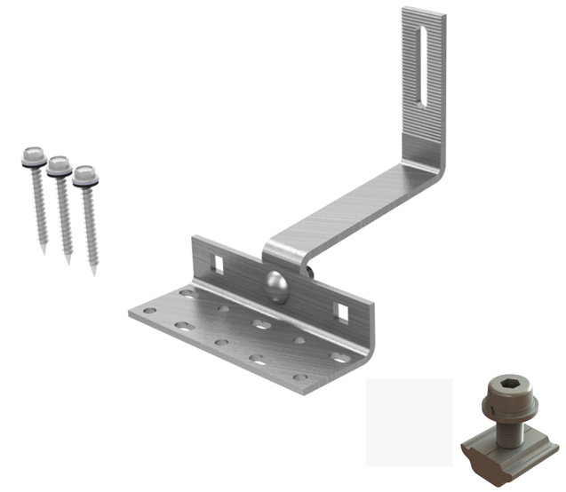 Solar Racking Adjustable S-tile Hook