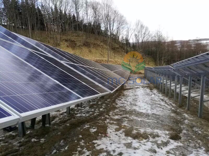 MG Solar 3.2MW Pile Ground Mounting System Located in Russia