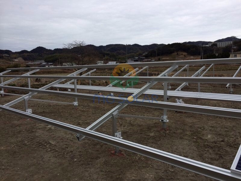 MG Solar 150KW Aluminum Ground Mounting System Located in Fukuoka, Japan