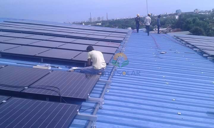 MG Solar 250KW Metal Roof Mounting System Located in Colombo, Sri Lanka