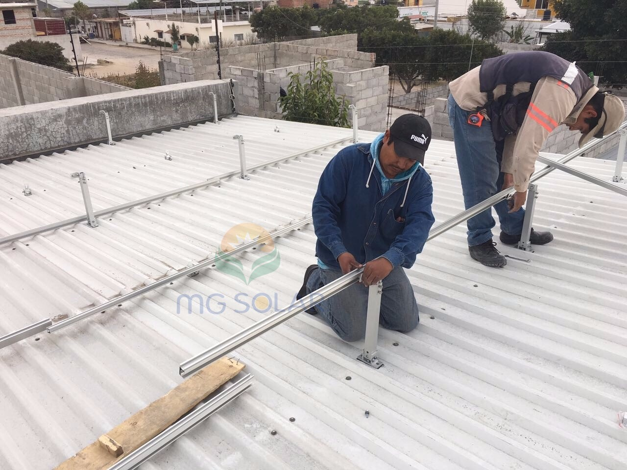 MG Solar 175KW Adjustable Tilt Roof Mount System Located in Mexico
