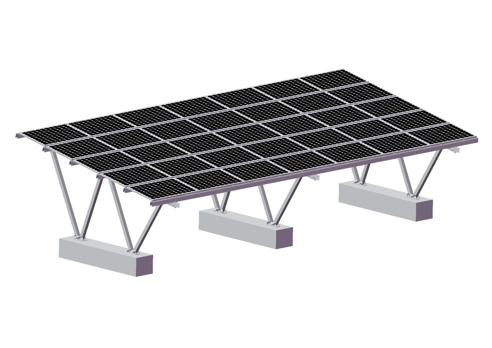 Double Cars Carport Solar Racking System Manufacturers, Double Cars Carport Solar Racking System Factory, Supply Double Cars Carport Solar Racking System