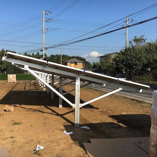 Solar Ground Mount System, Pile Driven Solar Ground Structure