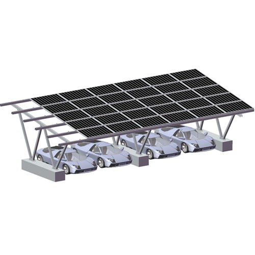 Double Cars Carport Solar Racking System