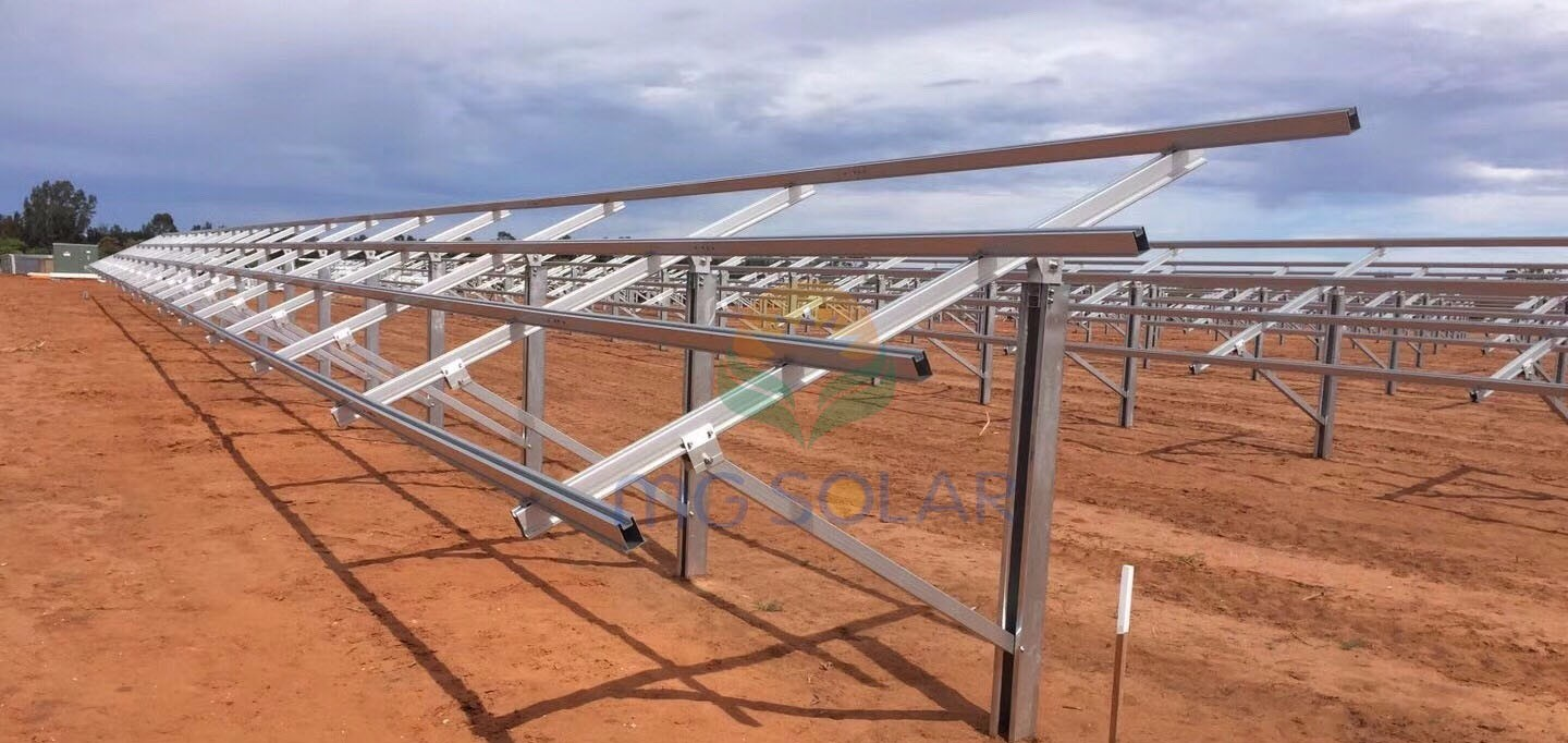 MG Solar 750KW Pile Ground Mounting System Located in Perth, Australia