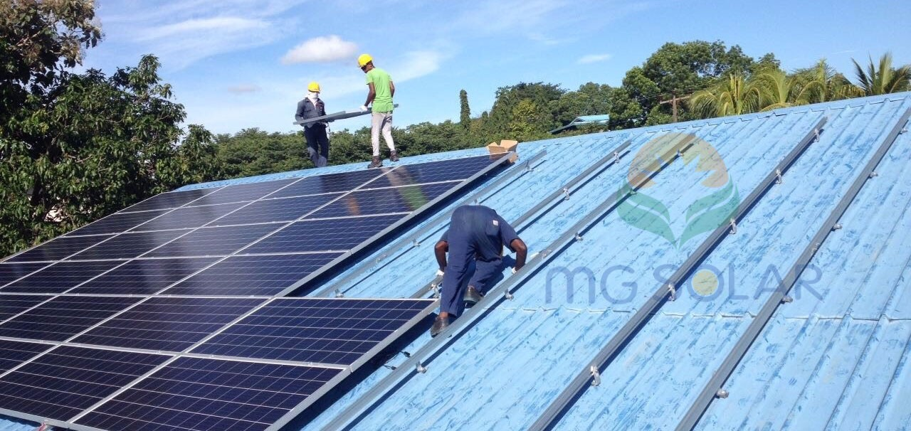 MG Solar 780KW Metal Roof Mounting System Located in Colombo, Sri Lanka