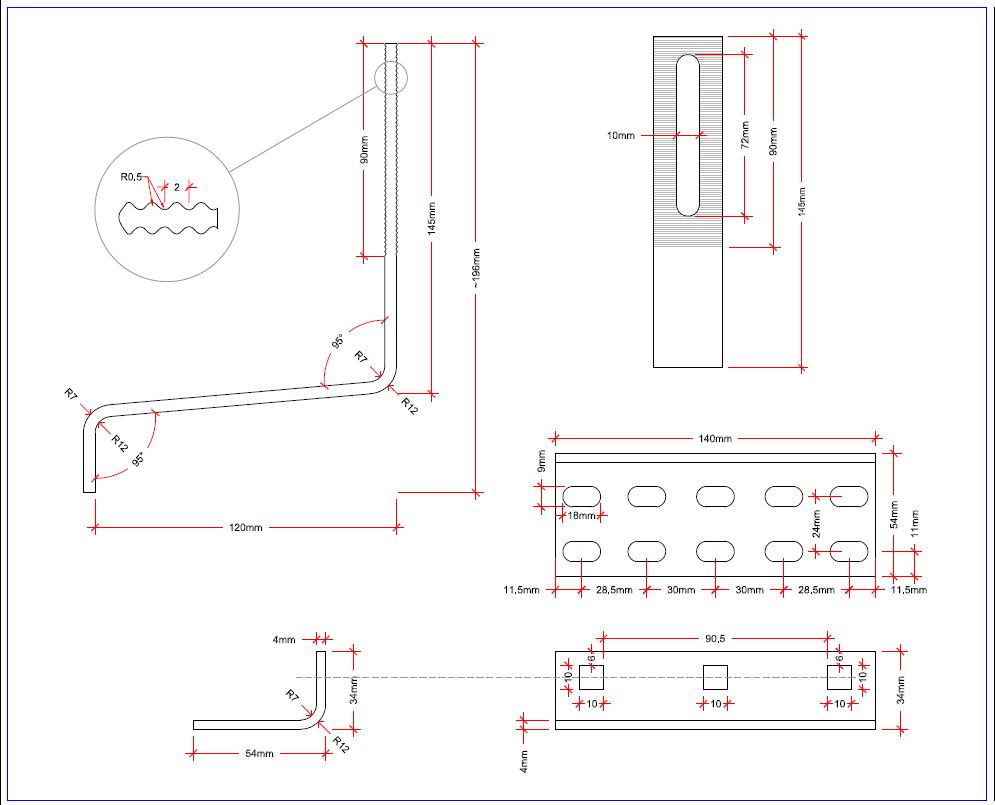 Solar Racking Adjustable Tile Roof Stainless Steel Hook