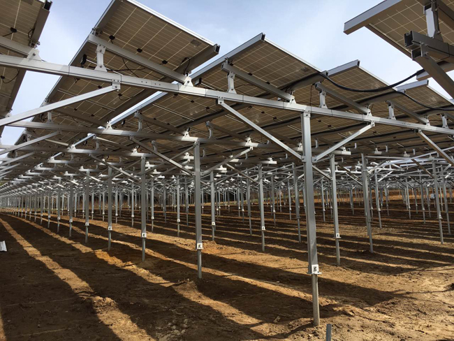 Agriculture ground solar racking
