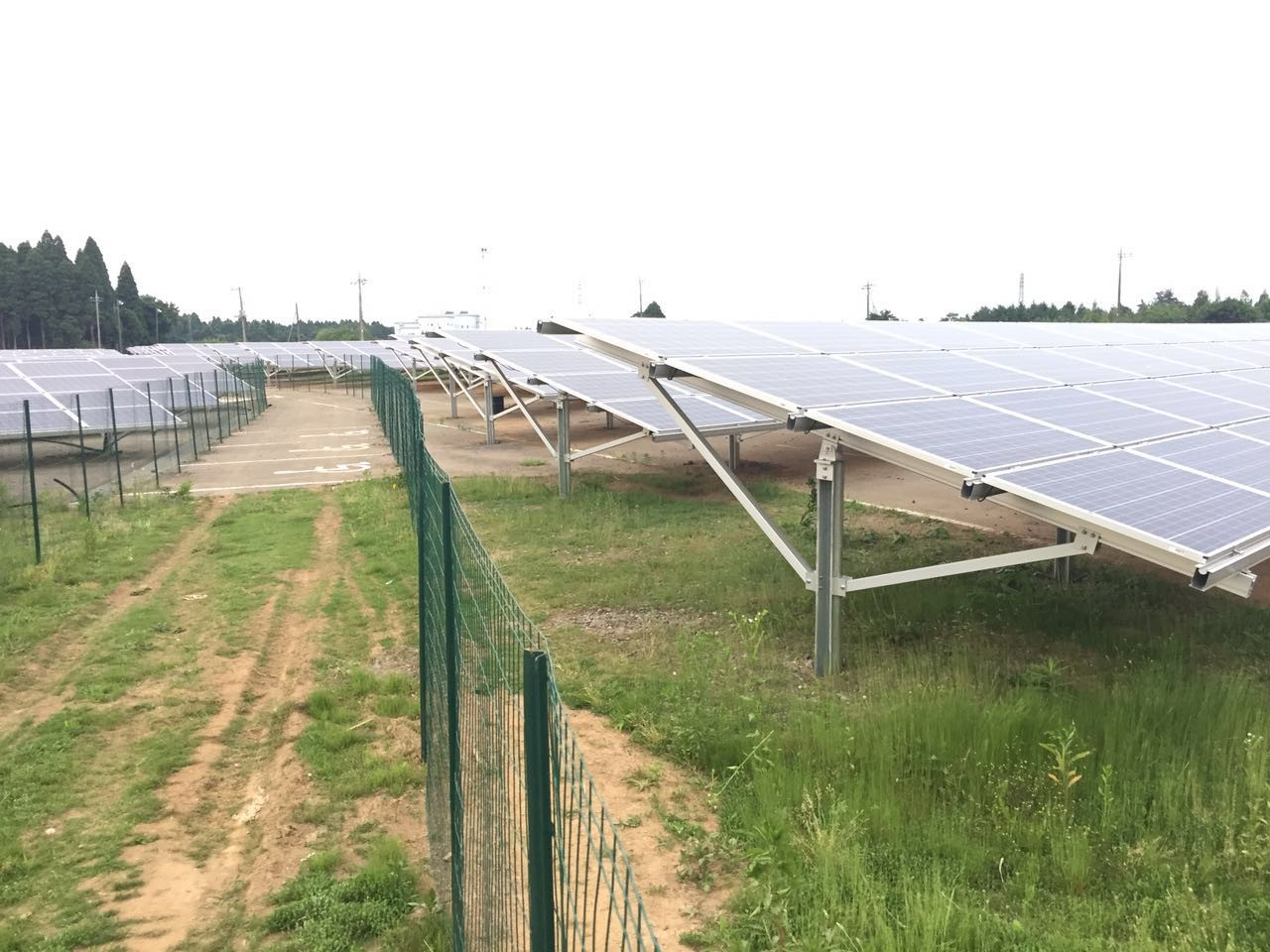 525 KW Ground Project Installed in Japan