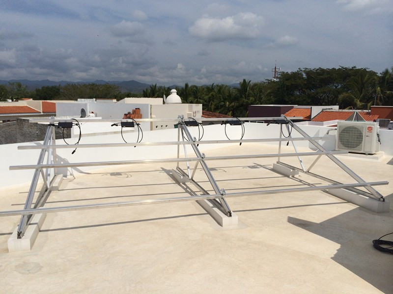 62KW Flat Roof Structure Project in The Dominican Republic