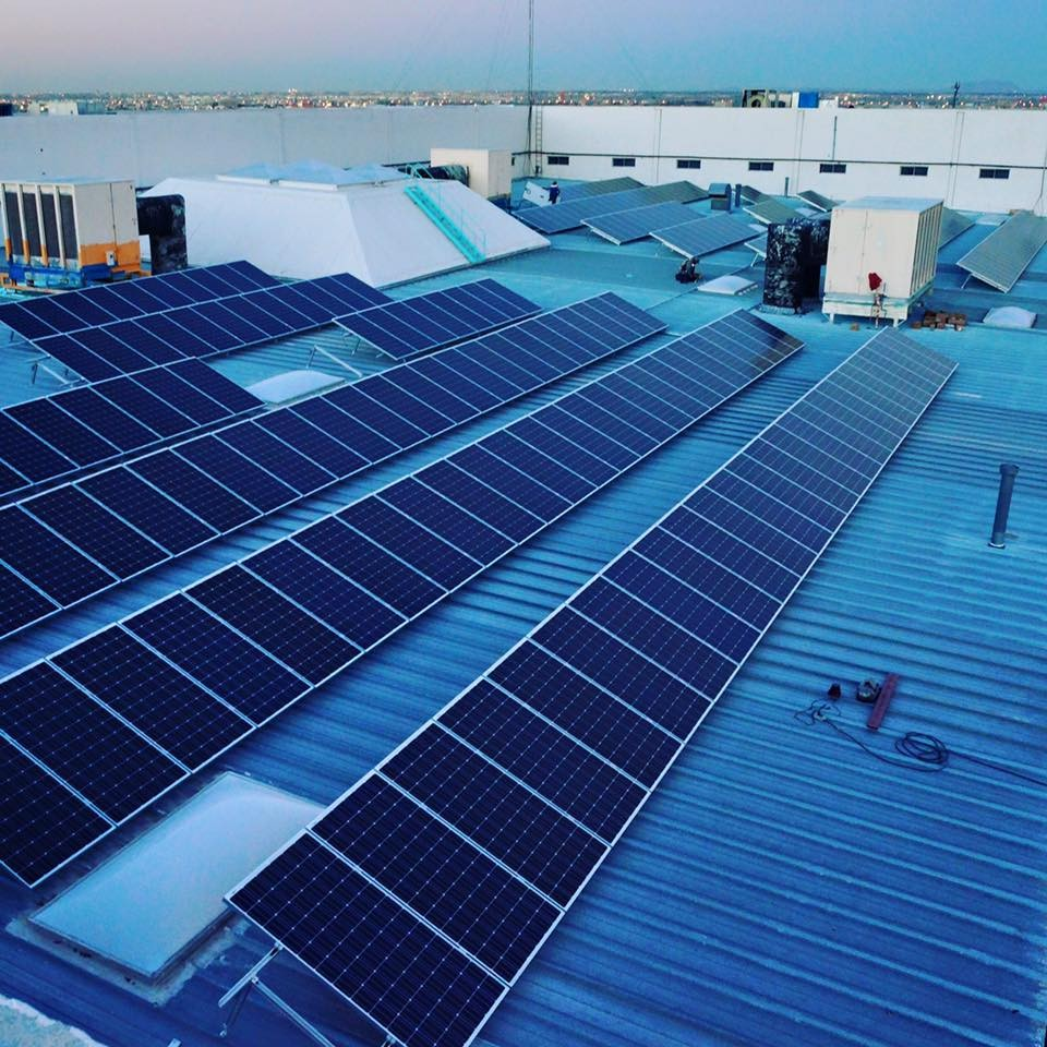 990KW Adjustable Tilt Roof Structure Project in Veracruz, Mexico