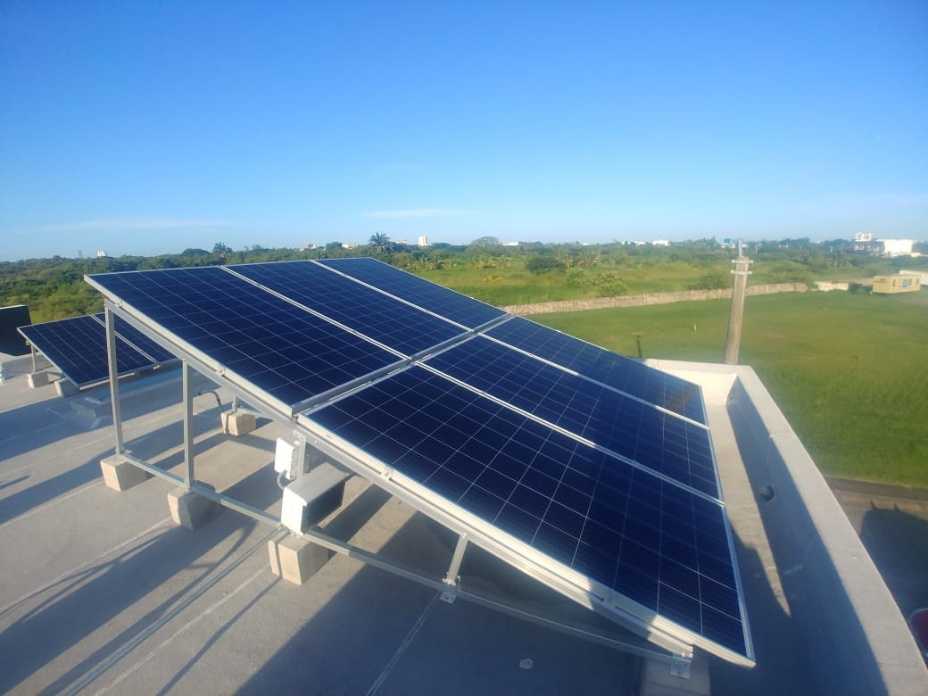 550KW Flat Roof Structure Project Finished in Mexico