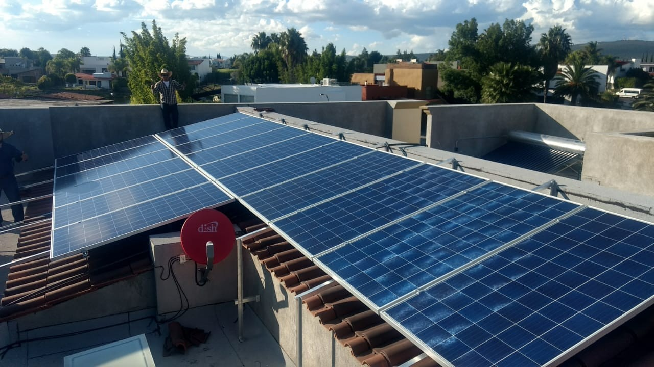 65KW Metal Roof Solar Structure Installed in Mexico
