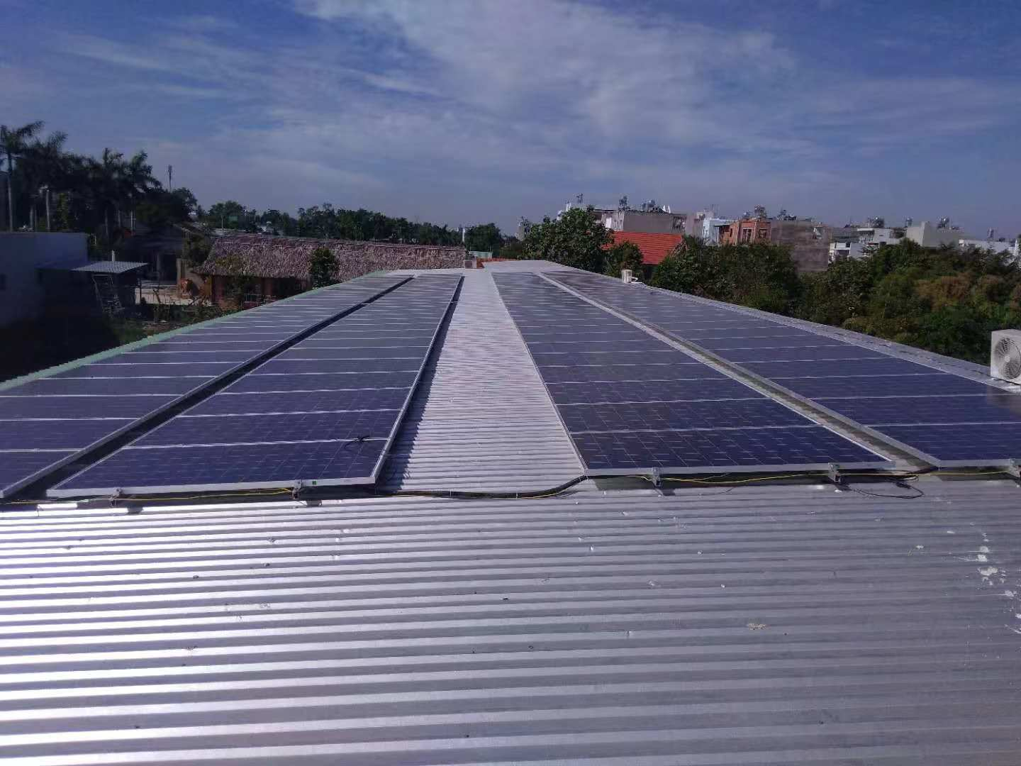 Aluminum Corrugated Metal Roof Solar Mounting System