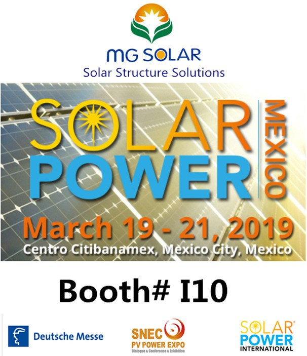 MG Solar Take Part in Solar Power Mexico Exhition March 19-21, 2019 Will Start in the End of This Month