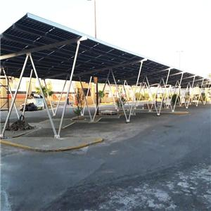 Solar car parking lot solar carport structure system