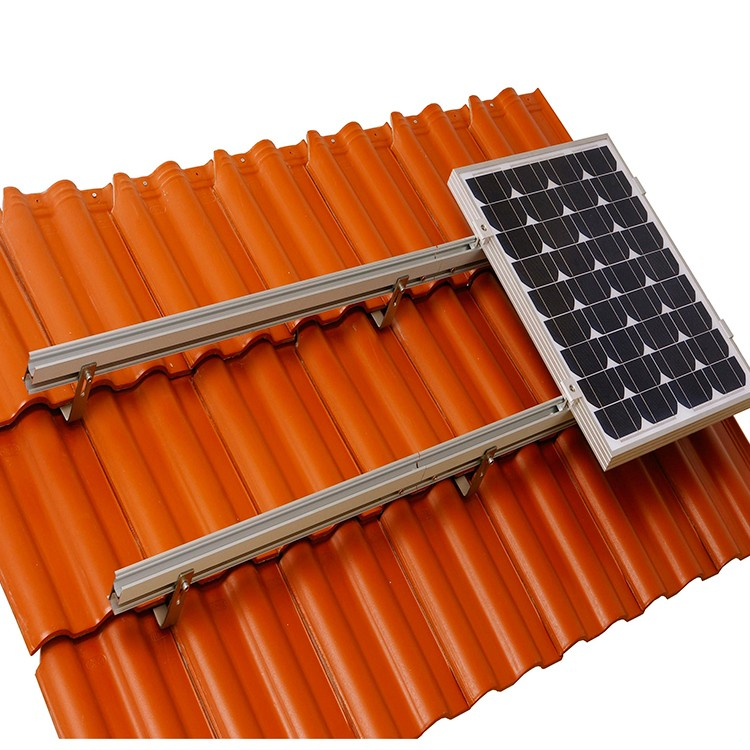 Sistema de rack de telhado de telha solar