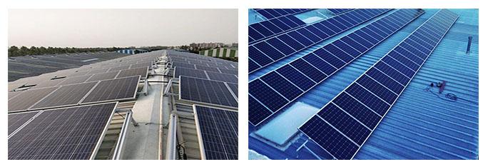 Structure de toit solaire